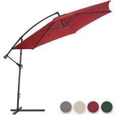 Parasol excentré 350cm diamètre + protection UV + housse de protection