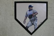 Eric Gagne Los Angeles Dodgers Hand Painted MLB Schutt Homeplate