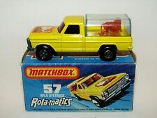 Matchbox Superfast No 57 Wild Life Truck LIGHT BLUE TINTED Canopy NMIB MEGA RARE