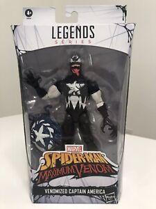 Marvel Legends Spider-Man Maximum Venom Venomized Captain America NEW!