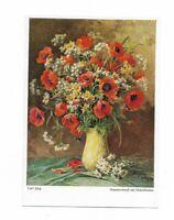 """Künstlerkarte von Carl Jung, """"Sommerstrauß mit Mohnblumen"""", Wiechmann Bildkarten"""