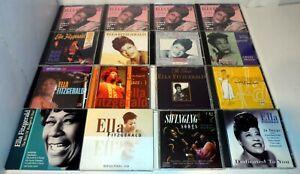 13 x ELLA FITZGERALD CD ALBUMS BUNDLE JOB LOT (19 DISCS)