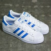 Adidas Originals Superstar Trainers Men's Leather Shoes - White / Blue - S75929
