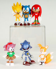 Sonic the Hedgehog Classic 6 Figure Toy Knuckles Super Amy Metal Sonic Tails