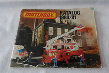 Matchbox-  Matchboxkatalog 1980/81 scandinavische Ausgabe
