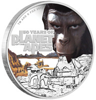 Planet of the Apes 50th Anniversary 2018 1oz Silver Proof Coin The Perth Mint