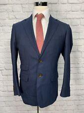 Sartoria Promessa Mens Navy Blue Wool Suit Jacket Sport Coat 38S