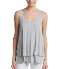 Lilla P Women's Layered Tank Top, Pewter, Small        MSRP: $90.00