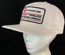 Vtg Texaco Mesh Trucker Hat Textreat SnapBack Big Patch Cap Gas Treating Team