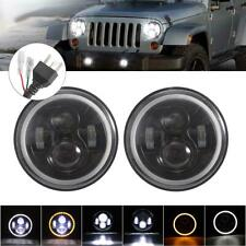 "PAIR 7"" INCH 150W LED Headlight Hi/Lo Beam Fit For Jeep Wrangler CJ JK LJ 97-17"