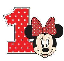 """Minnie Mouse 1st Iron On Transfer 4.75"""" x 5.75"""" for LIGHT Colored Fabric"""