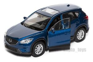 Mazda CX-5 Blue, Welly scale 1:34-39, model toy car gift