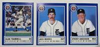 Detroit Tigers Baseball Hall of Fame Alan Trammell Jack Morris Sparky Anderson