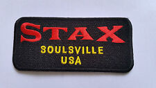 NORTHERN SOUL MUSIC SEW ON / IRON ON PATCH:- STAX BLACK (a) SOULSVILLE USA