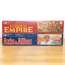 CONQUEST OF THE EMPIRE and AXIS AND ALLIES: Vintage MB 1984 Board Games, Clean