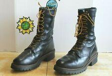Wolverine Men's Logger Work Biker Boots Black Leather US Size 11