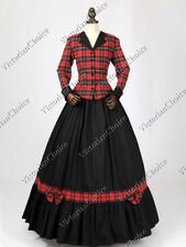 Victorian Civil War Dickens Christmas Caroler Dress Lady Halloween Costume 122 L