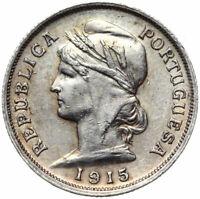 Portugal - Republica Portuguesa - Münze - 10 Centavos 1915 - Silber