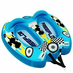 Watersports Inflatable Towable Booster Tube - Two Person Water Boating Float