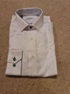 Duchamp shirt 15.5, white slim fit