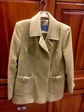 Spring Sale Womens Nine West Wool Winter Coat Mid Length Green Size 12 L