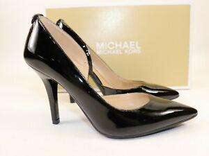 NIB $198 MICHAEL KORS Size 5 Womens Black Patent Leather NATHALIE FLEX High Pump