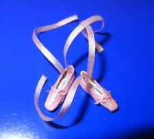 Dollhouse Miniature Pink and Gold Ankle Strap High Heel Shoes 1:12 Miniatures