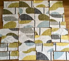 Orla Kiely Stem Seagrass bundle 32 small pieces off cuts remnants cotton fabric