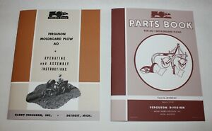 Ferguson AO Moldboard Plow Operators Manual & Parts Book /List, Set of 2 Manuals