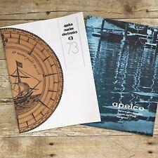 Lot of 2 Vintage Sales Brochures Apelco Marine Electronics Catalog 1973 Boating
