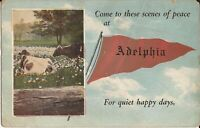 Adelphia, NEW JERSEY - PENNANT - 1925 - cows