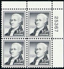 1053, Mint NH $5 VF/XF Hamilton Plate Block Fresh!!! - Stuart Katz