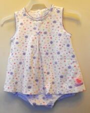 Child of mine.  Girls. White with floral print, sleeveless one piece Size 24M