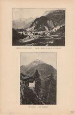 Amsteg Gotthardbahn Kanton Uri DRUCK von 1895 Schweiz