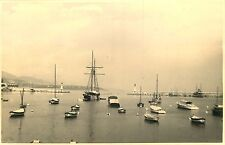 PHOTO 021015 - 1937 - MONACO - la baie - voilier bateau