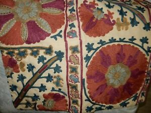 Pottery Barn Rozelle Embroidered Pillow Cover 20 SQ Beautiful