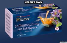 SAGE TEA 2x 25 Tea Bags by Messmer Germany UK Seller, with Eucalyptus & Orange