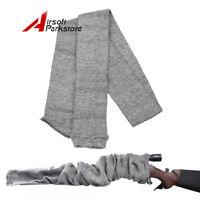 "54"" Hunting Shotgun Rifle Gun Sock Cover Silicone Treated Slip Sleeves Sack Grey"