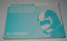 Uso E Manutenzione Honda XL 1000 V Instruktieboek Manual Del Propietario 1998!