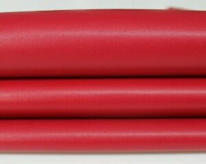 RASPBERRY RED Italian Lambskin Lamb Sheep leather skin skins 7sqf 0.7mm #A6039