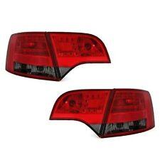 2 FEUX ARRIERE LED AUDI A4 8E B7 AVANT 11/2004 A 03/2008 NOIR FUME ROUGE