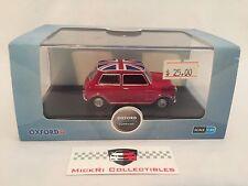 Oxford Diecast 1:43 MINI Cooper In Tartan Red/Union Jack