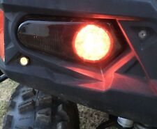 12-17 POLARIS RZR 570 - NEW PAIR BLACK REPLACEMENT TAIL LIGHTS w/ BLINKER  SMOKE
