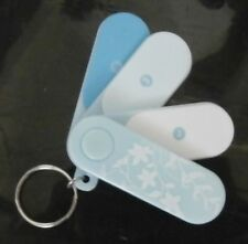 *~AVON~*SET OF 4 NAIL FILE ON KEY CHAIN**IDEAL FOR HANDBAG**NEW AND SEALED**