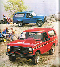 1982 FORD BRONCO Brochure / Catalog with Color Chart: LARIAT, XLS,