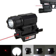 1600LM R5 LED Tactical Gun Flashlight Rifle Mount Shotgun Torch & Red Dot Laser