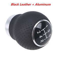 Black Leather 5-Speed Manual Transmission Car SUV Gear Shift Knob Shifter Lever