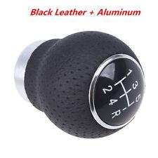 Black Leather 5-Speed Manual Transmission Car SUV Gear Shift Knob Shifter Lever