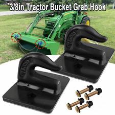 2 Pack 38 Bolt On Grab Hooks For Loader Tractor Bucket Heavy Duty Steel