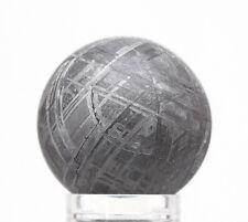 Gibeon Iron Meteorite ETCHED SPHERE Carving WIDMANSTATTEN Pattern Specimen